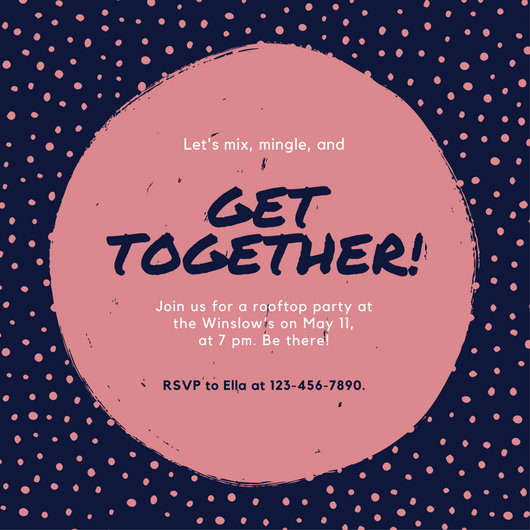 Customize 675+ Get Together Invitation templates online - Canva - get together invitation template