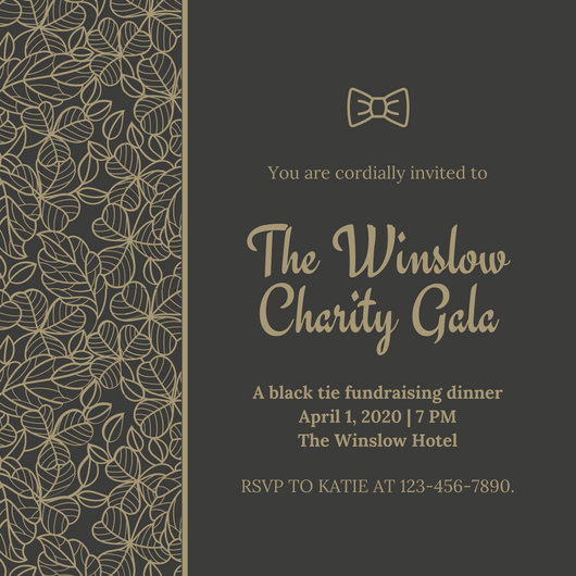 Fundraising Dinner Invitation Template Ideas – Gala Invitation Template