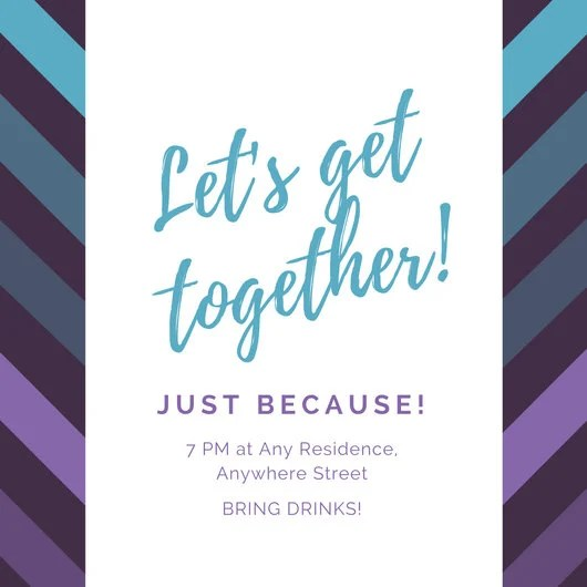 Get Together Invitation Template holiday party invitation – Get Together Party Invitation