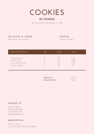Customize 203+ Invoice templates online - Canva - Invoice Templets