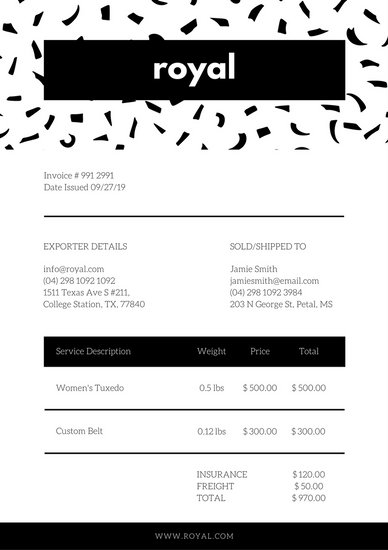 Customize 204+ Invoice templates online - Canva - custom made invoices
