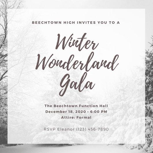 Simple Winter Photo Gala Invitation - Templates by Canva - gala invitation template