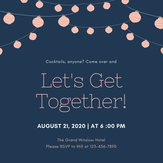 Customize 675+ Get Together Invitation templates online - Canva