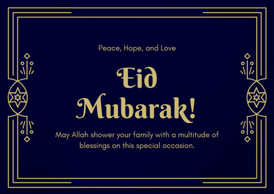 Customize 53+ Eid Al-Fitr Card templates online - Canva