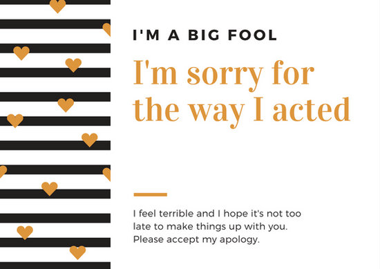 Customize 50+ Apology Card templates online - Canva