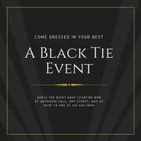 Black Tie Event Invitation | www.pixshark.com - Images ...