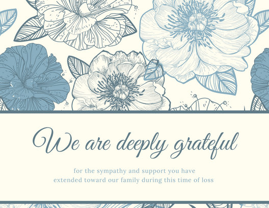 Customize 33+ Funeral Thank You Card templates online - Canva
