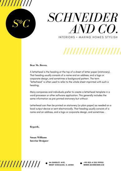 White and Turquoise Minimalist Graphic Design Letterhead - Templates