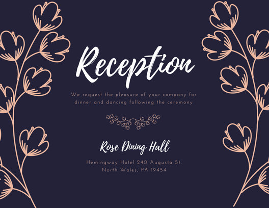 Customize 607+ Wedding Reception Card templates online - Canva