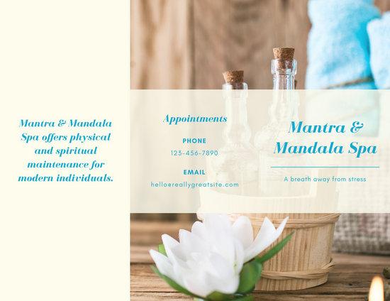 Customize 45+ Massage Brochure templates online - Canva - spa brochure template