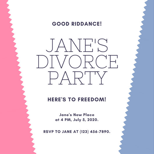 Customize 3,998+ Divorce Party Invitation templates online - Canva