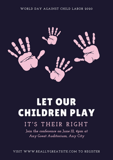 Customize 29+ World Day Against Child Labour Poster templates online - poster on line