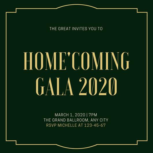 Customize 76+ Gala Invitation templates online - Canva