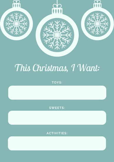 Green Snowflakes Christmas Wish List - Templates by Canva
