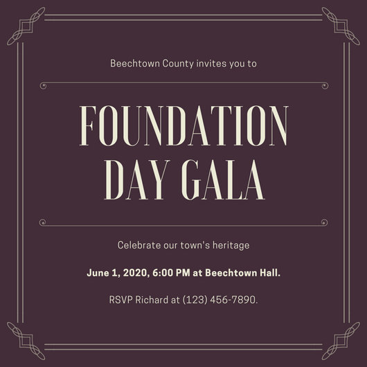 Customize 76+ Gala Invitation templates online - Canva