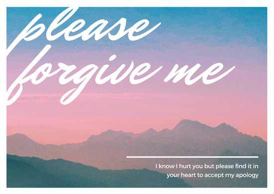 Customize 50+ Apology Card templates online - Canva - apology card messages
