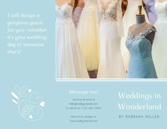 Customize 86+ Wedding Brochure templates online - Canva - wedding brochure template