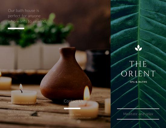Customize 54+ Spa Brochure templates online - Canva - spa brochure