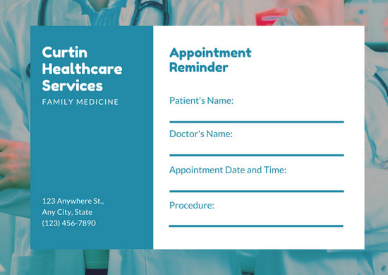 Customize 31+ Appointment Card templates online - Canva