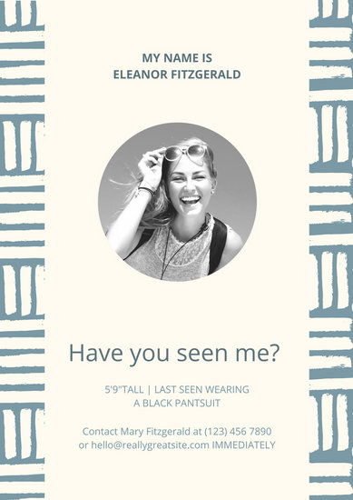 Have You Seen Me Poster Template Choice Image - Template Design Ideas - missing poster generator