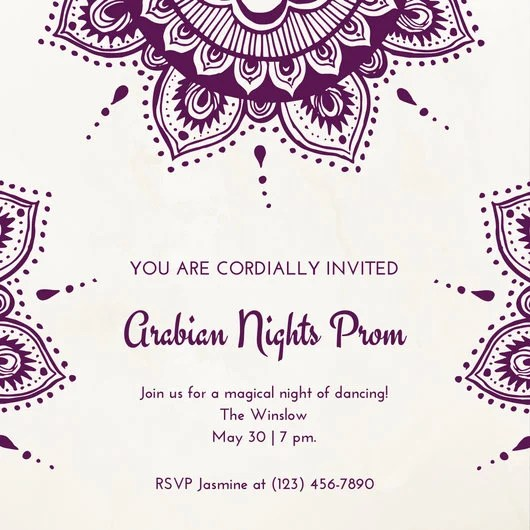 Prom Invitation Templates \u2013 diabetesmanginfo