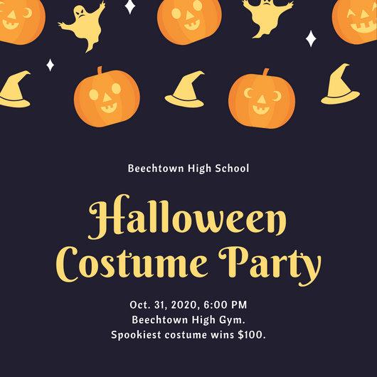 Customize 3,999+ Halloween Party Invitation templates online - Canva