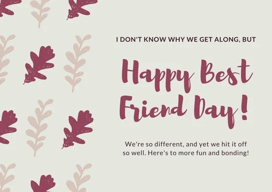 Friendship Card Template cvfreepro