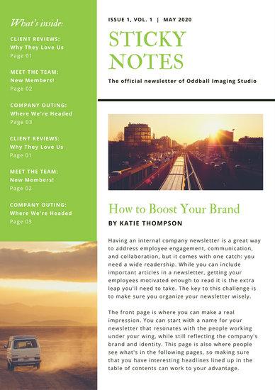 Employee Newsletter Templates Choice Image - Template Design Ideas