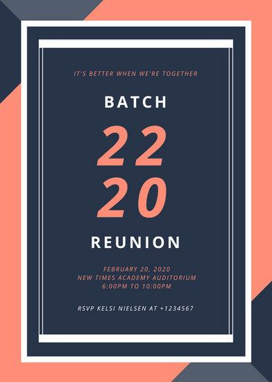 Orange and Blue Bordered Get Together Invitation - Templates by Canva - get together invitation template