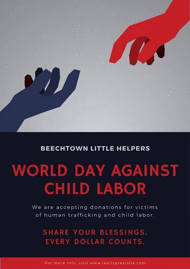 World Day Against Child Labour Poster - Templates by Canva - labour day flyer template