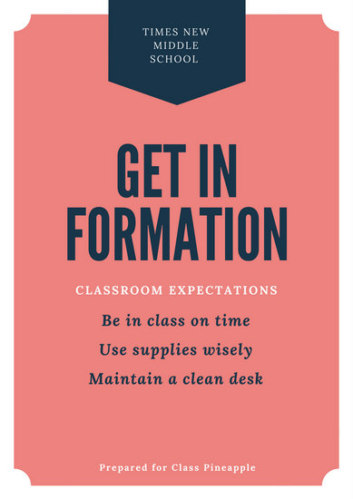 Classroom Rules Poster - Templates by Canva