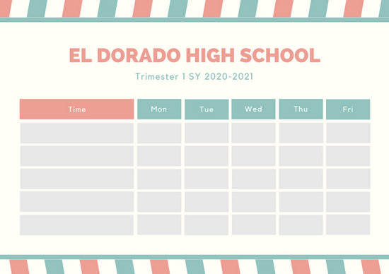 Customize 2,736+ Class Schedule templates online - Canva - class timetable template