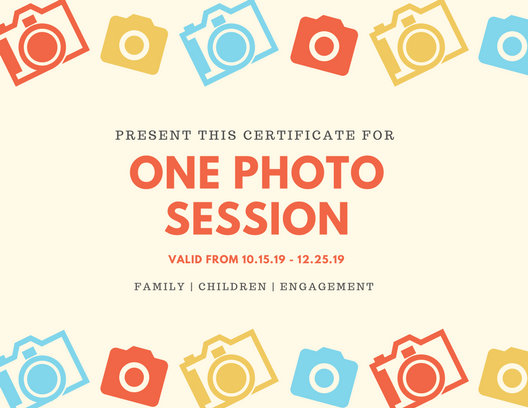 Cream Photography Cameras Gift Certificate - Templates by Canva