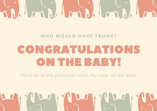 Customize 435+ Baby Shower Card templates online - Canva