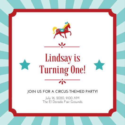 Customize 40+ Circus Invitation templates online - Canva - Circus Party Invitation