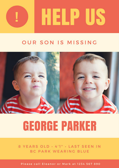 missing person poster template - deodeatts - missing person template