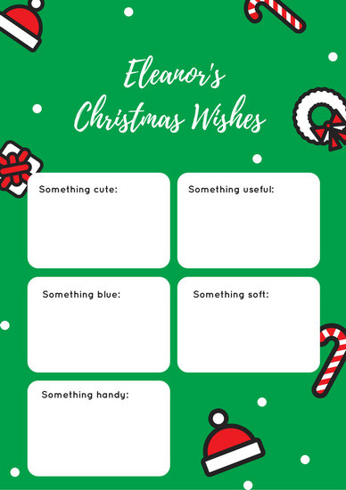 Red and Green Illustrated Christmas Wish List - Templates by Canva