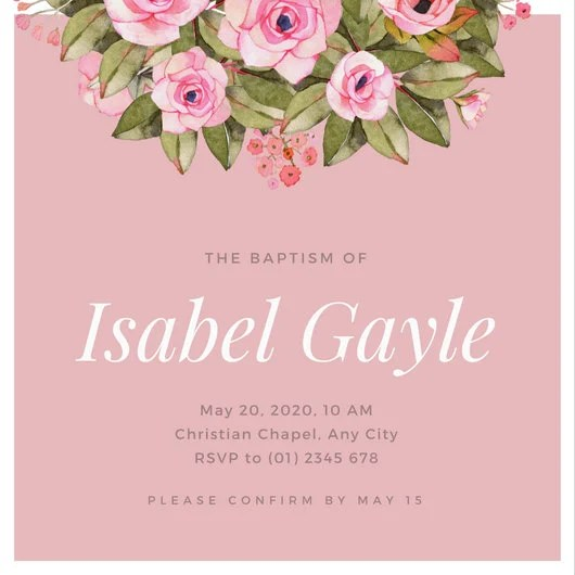 Cute Baby Girl Photos Wallpapers Customize 162 Baptism Invitation Templates Online Canva