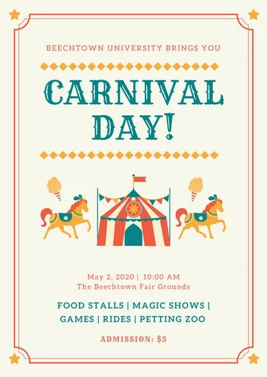 Birthday Editing Photo Colorful Bordered Carnival Poster - Templates By Canva
