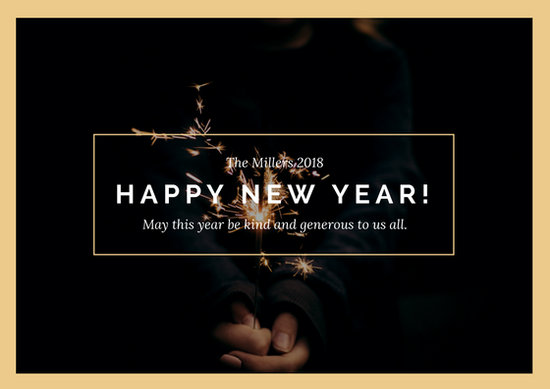 Customize 917+ New Year Card templates online - Canva