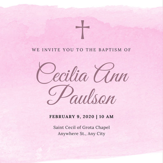Girl Baby Shower Wallpaper Customize 162 Baptism Invitation Templates Online Canva