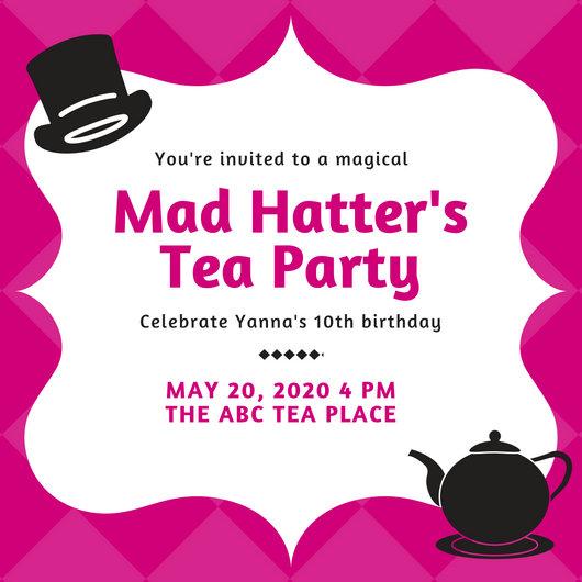 free tea party invitation templates