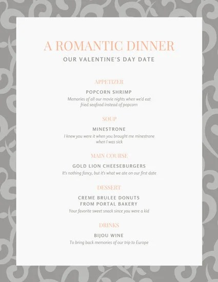 Menu Templates - Canva - dinner party menu template