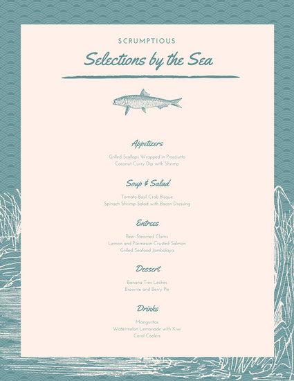 template of a menu template of a menu - drinks menu template