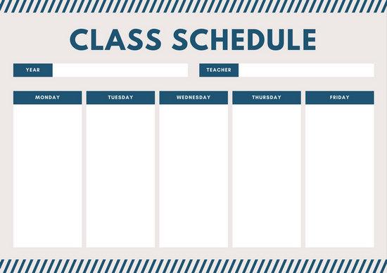 class schedule maker for teachers