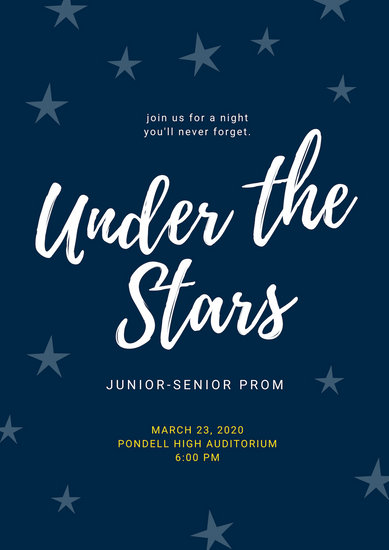 Customize 24+ Prom Poster templates online - Canva