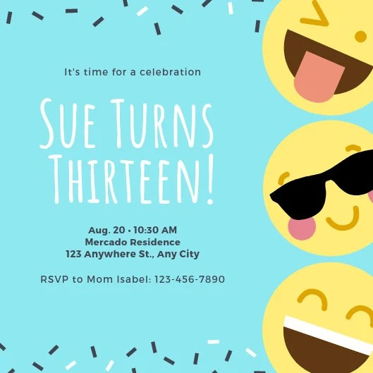 Customize 2,897+ Emoji Party Invitation templates online - Canva