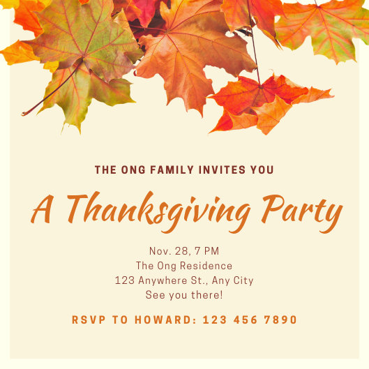 Customize 93+ Thanksgiving Invitation templates online - Canva