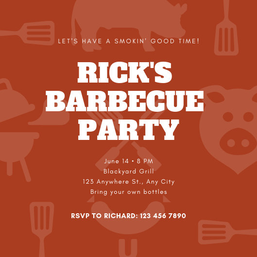 Customize 77+ Bbq Invitation templates online - Canva