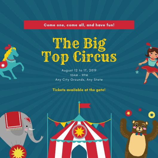 Customize 37+ Circus Invitation templates online - Canva